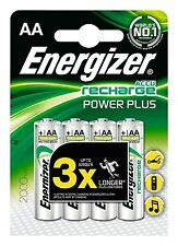 4 x Energizer AA Rechargeable Batteries 2000 mAh NiMH Genuine & Boxed