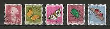 Schweiz Michel-Nr. 648 - 652 gestempelt, Pro Juventute 1957 - Insekten