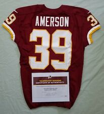 #39 David Amerson of Redskins NFL Game Worn & Unwashed Jersey vs. Chiefs WCOA