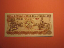 MOZAMBIQUE Banknote 50 meticais 1986 BANK NOTE BILL CURRENCY PAPER MONEY UNC