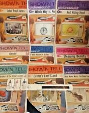 LOT of  9 Vintage General Electric Show N Tell Picture Sound Program Records