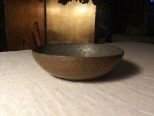 """Vintage Antique 5.25"""" Hammered Metal Decorative Fruit Bowl"""