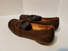 Born Brown Leather Mary Janes Casual Comfort Shoes Buckle Womens 8 1/2 Eur 40