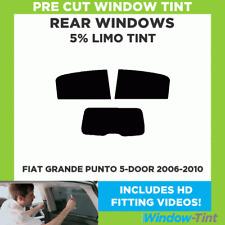 FIAT GRANDE PUNTO 5-DOOR 2006-2010 5% LIMO REAR PRE CUT WINDOW TINT