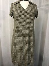 Motherhood Maternity Women's Dress Black Ivory Print Stretch Dress Size Small