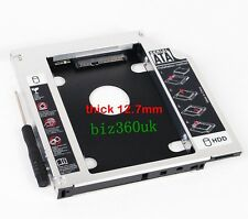 2nd HD HDD SSD Hard Drive Caddy Adapter for HP EliteBook 8470p 8470w 8570p 8570w