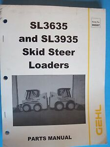 Gehl SL3635 & SL3935 Skid Steer Loaders Parts Manual w/Schematics  908267 2002