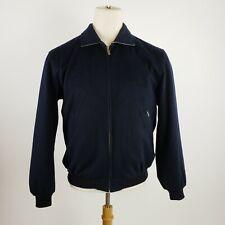 Faconnable Mens Wool Jacket Raincoat Facorain Size Medium Navy
