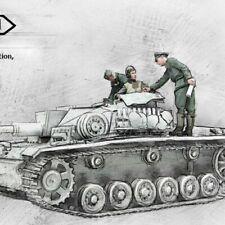 1:35 German Panzer Tank Crew World War 2, 3 Figures Resin Model Kit
