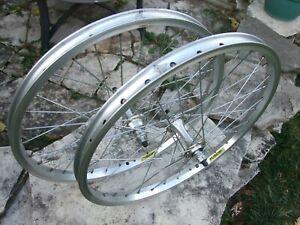 "Fusion, 20"" BMX Bicycle, 32 Spoke Wheel Set 3/8"" Axle, Sansin Hubs, Double Wall"