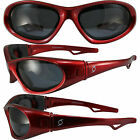 Cat 5 Polarized Floating Boating Foam Padded Riding Glasses Goggles Red Frame