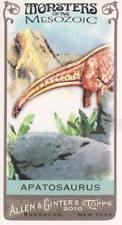 2010 Topps Allen & Ginter Mini Monsters of Mesozoic #Mm-9 Apatosaurus