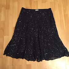 New Stunning Wallis Sequin  Navy Party Winter Skirt Size 18