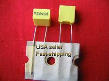 3 pcs - .33uf  (0.33uf)  100v  10% tol radial poly film capacitors FREE SHIPPING