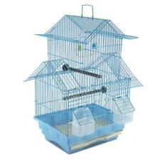 """18"""" Small Parakeet Wire Bird Cage for Finches Canaries Hanging Travel Bird House"""