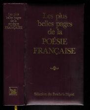"""Les plus belles pages de la poésie française """" Sélection du reader's Digest """""""
