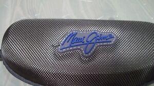 Maui Jim Sunglasses Case Only Brown Soft Clam Shell Weave Zipper w/ Clip