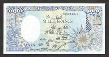 CHAD 1000 FRANCS 1989  P.10A  Uncirculated (Complete Map)