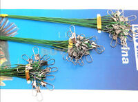72 Traces Wires Pike Card Rolling Swivels Safety Snap Fishing Lures Hook FaRASK