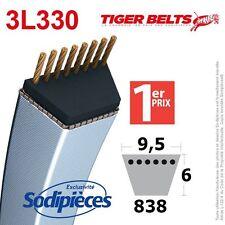 Courroie tondeuse 3L330 Tiger Belts. 9,5 mm x 838 m