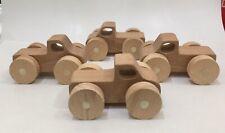 Wooden Toy Trucks Set Of 4