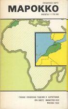 Marokko Karta GUGK 1983 Karte russisch Morocco map russian Afrika Landkarte