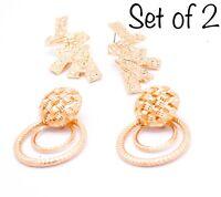 Gold Pearl Dainty Bead Statement Charm Earrings Style Jewellery Fashion Zara