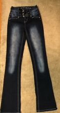 Almost Famous Womens Dark Wash Boot Cut Blue Jeans Sz.3 × 30 Inseam