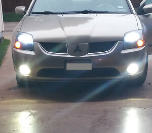 White LED Halo Angel Eye Fog light lamps Kit For 2004-2008 Mitsubishi Galant