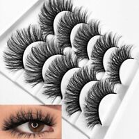 2019 - 5 Pairs 3D Fake Eyelashes Long Thick Natural False Eye Lashes Mink Sg