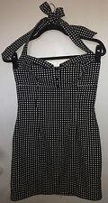 FOREVER 21 Black White Polkadot Spotted Halter Neck Dress Size M