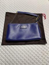 Kate Spade Wellesley Leather Handbag Purple/Blue - Small