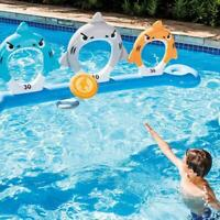 Feed The Shark Pool Inflatable Frisbee Disc Throwing Game Outdoor Target Fun 501