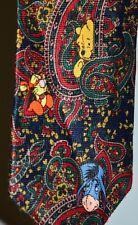 Disney Winnie L'Ourson & Amis Multicolore Cachemire Polyester Homme Cravate
