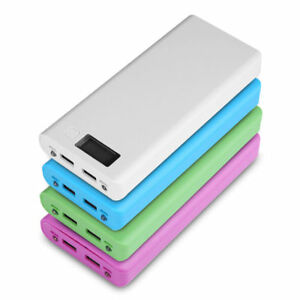 USB POWER BANK CASE 8X 18650 CARICA BATTERIA PORTATILE BOX UNIVERSAL LCD DISPLAY