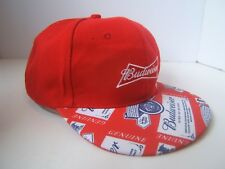 Budweiser Beer Red Hat Genuine Bud King of Beers Snapback Baseball Cap