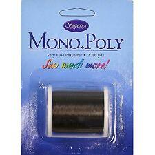 Superior MonoPoly Polyester Monofilament Invisible Thread Smoke 2200 yard spool