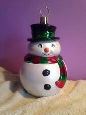 CUTE Teleflora Snowman Cookie Jar Christmas Ornament Style