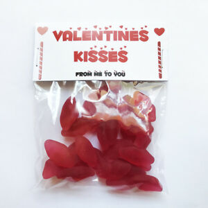 Valentine's Kisses Sweets - Valentines gift / present - chewy red cherry lips