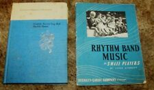 Lot 2 Vintage Young Children Nursery Song & Rhythm Band Music Books 1940's