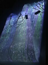 RGB LED Light up Fiber Optic Fabric to Make Clothing (100×140 cm,two batteries)