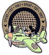 Epcot Est 1982 Mickey Flying Ww Ii Green Plane Wdw Le Disney Pin