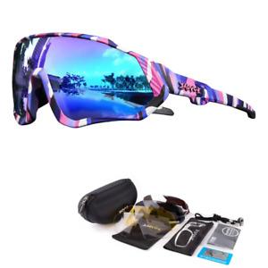Kapvoe Polarized Cycling Sunglasses Sports Bike Glasses Hiking Goggles 5Lens