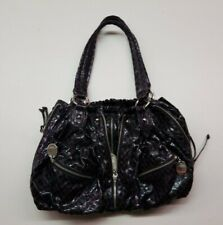 Kathy Van Zeeland Purple Purse w/ Snake Skin Look