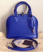 Authentic Louis Vuitton Epi Leather Blueberry Alma BB Crossbody Bag