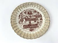 """Vintage 9.75"""" Wonderful Wyoming Souvenir Collector State Plate"""