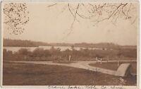 Indiana In Real Photo RPPC Postcard 1913 CRANE LAKE Columbia City BUGGY