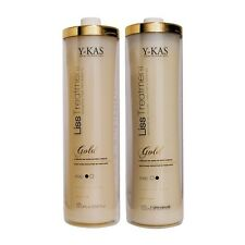 Y-KAS Brazilian Keratin Hair Blowout Treatment. Cirugia Capilar Brillo de seda