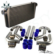 "Universal Front Mount Intercooler + 3"" 76mm Aluminum DIY Piping Hose Clamps Kit"