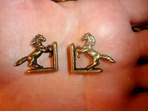 BRONZE HORSE BOOKENDS   - DOLL HOUSE MINIATURE